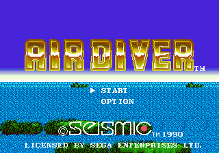 Air Diver (USA) Title Screen