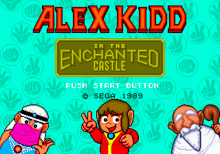 Alex Kidd in the Enchanted Castle (USA) Title Screen