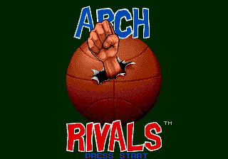 Arch Rivals - The Arcade Game (USA, Europe) Title Screen