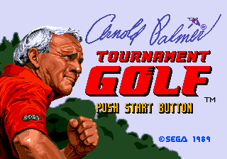 Arnold Palmer Tournament Golf (USA, Europe) Title Screen