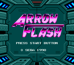 Arrow Flash (Japan) Title Screen