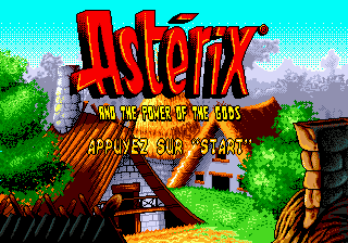 Asterix and the Power of the Gods (Europe) (En,Fr,De,Es) Title Screen