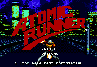 Atomic Runner (Europe) Title Screen