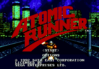 Atomic Runner (USA) Title Screen