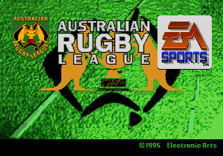Australian Rugby League (Europe) Title Screen