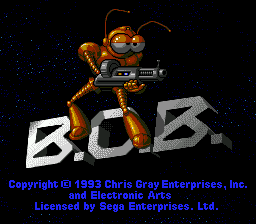 B.O.B. (USA, Europe) Title Screen