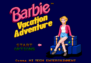 Barbie Vacation Adventure (USA) Title Screen