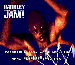Barkley Shut Up and Jam! (USA, Europe) Title Screen