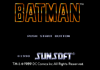 Batman (Japan) Title Screen