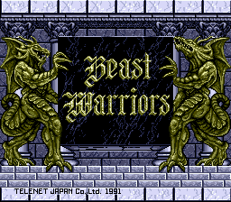 Beast Warriors (Japan) Title Screen