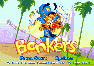 Bonkers (USA, Europe) Title Screen