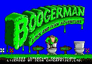 Boogerman - A Pick and Flick Adventure (Europe) Title Screen