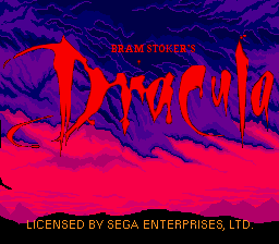 Bram Stoker's Dracula (USA) Title Screen