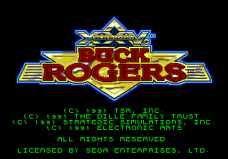 Buck Rogers - Countdown to Doomsday (USA, Europe) Title Screen