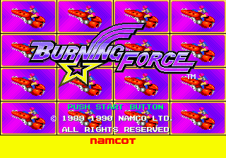 Burning Force (Japan) Title Screen