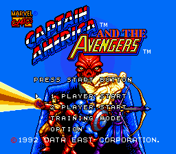 Captain America and the Avengers (Europe) Title Screen