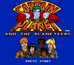 Captain Planet and the Planeteers (Europe) Title Screen