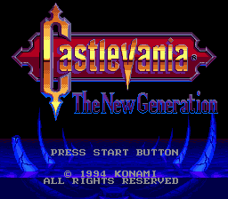 Castlevania - The New Generation (Europe) Title Screen
