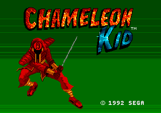 Chameleon Kid (Japan) Title Screen