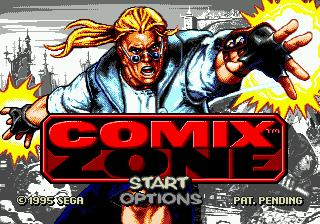Comix Zone (USA) (Beta) Title Screen