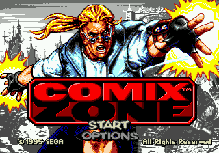 Comix Zone (USA) Title Screen