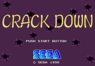 Crack Down (Japan) Title Screen