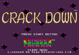 Crack Down (USA, Europe) Title Screen
