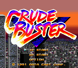 Crude Buster (Japan) Title Screen