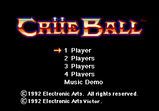 Crue Ball (Japan) Title Screen