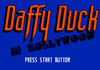 Daffy Duck in Hollywood (Europe) (Beta) Title Screen