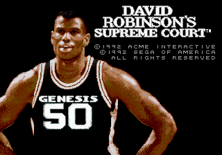 David Robinson's Supreme Court (USA, Europe) Title Screen