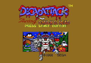 DecapAttack (USA, Europe) Title Screen