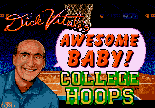 Dick Vitale's 'Awesome, Baby!' College Hoops (USA) Title Screen