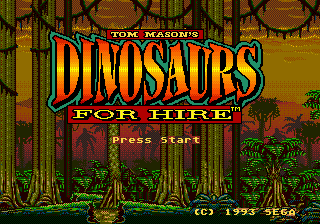 Dinosaurs for Hire (USA) Title Screen