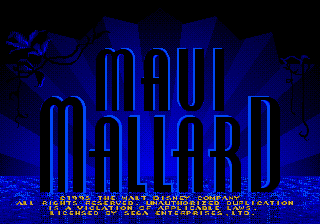 Donald in Maui Mallard (Europe) Title Screen