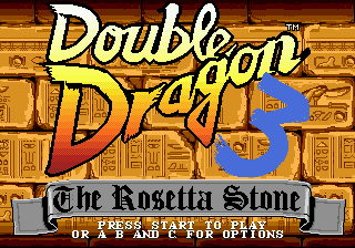 Double Dragon 3 - The Arcade Game (USA, Europe) Title Screen