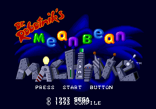 Dr. Robotnik's Mean Bean Machine (USA) Title Screen