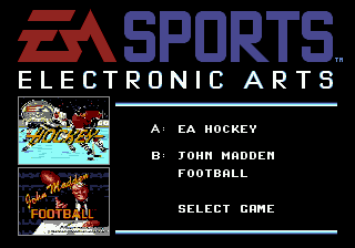 EA Sports Double Header (Europe) Title Screen