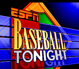 ESPN Baseball Tonight (USA) Title Screen