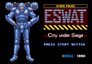 ESWAT - City Under Siege (USA) Title Screen