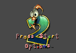Earthworm Jim 2 (Europe) Title Screen