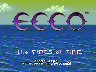 Ecco - The Tides of Time (Europe) Title Screen