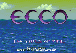 Ecco - The Tides of Time (USA) Title Screen