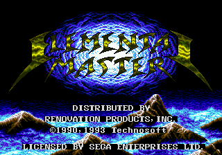 Elemental Master (USA) Title Screen