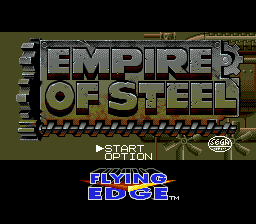 Empire of Steel (Europe) Title Screen