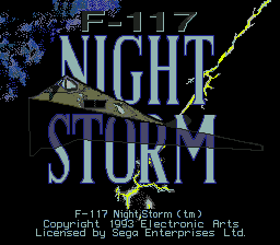 F-117 Night Storm (USA, Europe) Title Screen