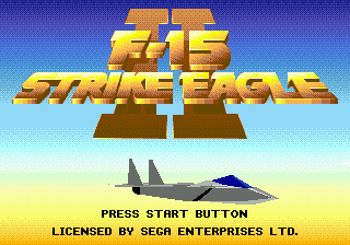 F-15 Strike Eagle II (USA) Title Screen