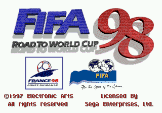 FIFA 98 - Road to World Cup (Europe) (En,Fr,Es,It,Sv) Title Screen
