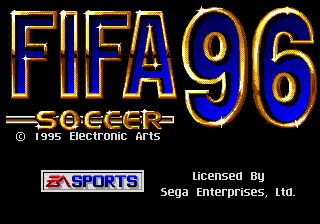 FIFA Soccer 96 (USA, Europe) (En,Fr,De,Es,It,Sv) Title Screen