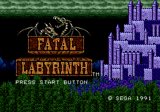 Fatal Labyrinth (USA, Europe) Title Screen